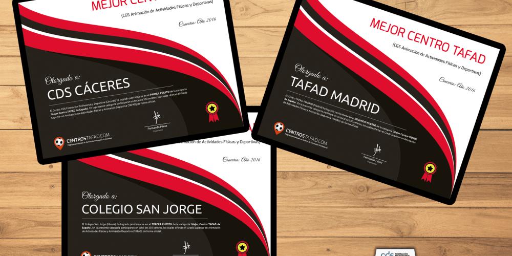 Resultados Concurso Mejor Centro TAFAD 2016/2017