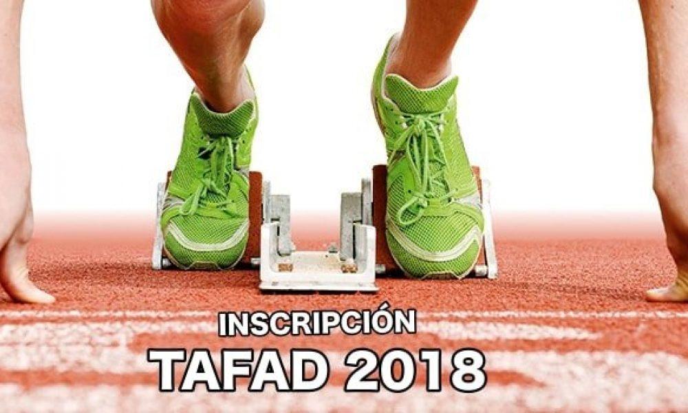 TAFAD Inscripción curso 2018 - 2019
