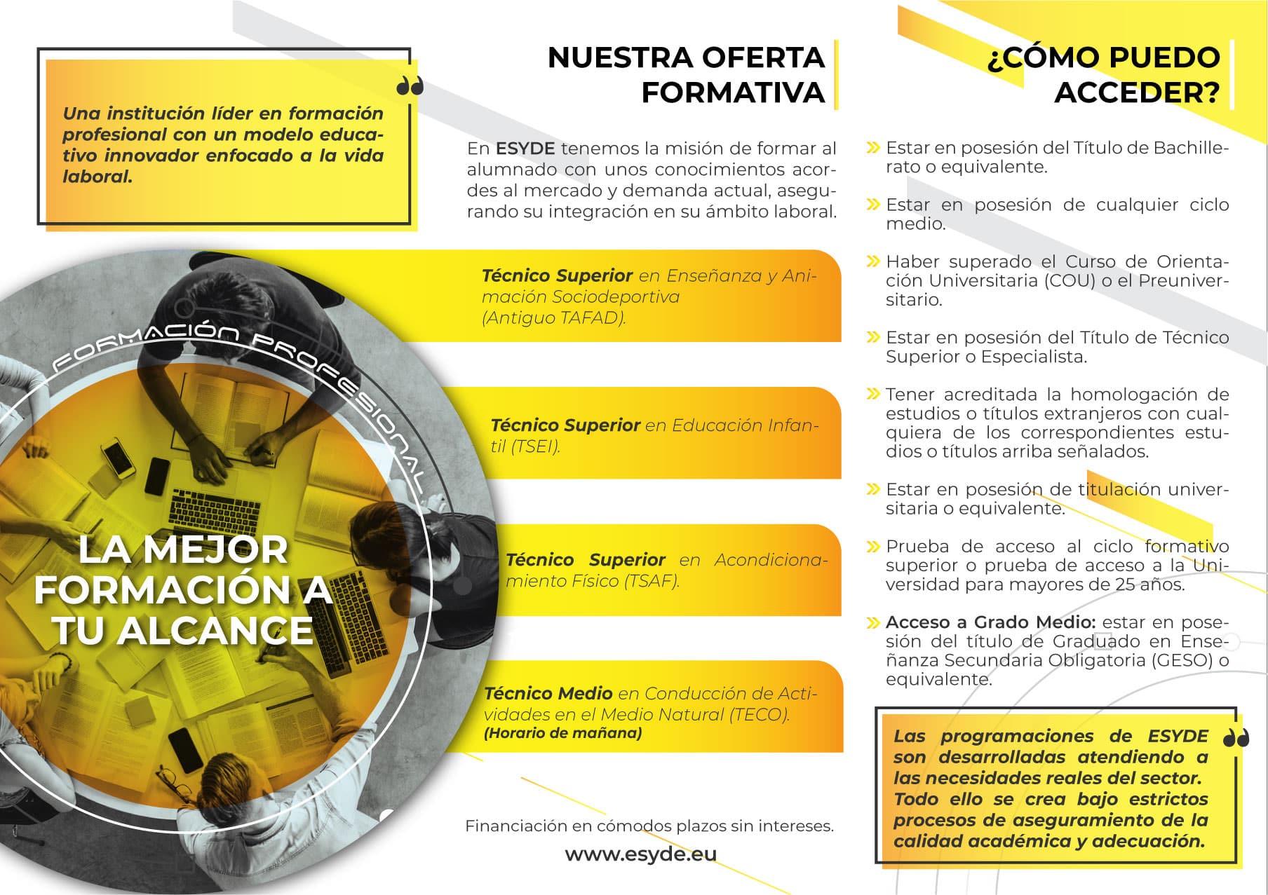 Centro Esyde Formación Cádiz Centro Tafad Cádiz