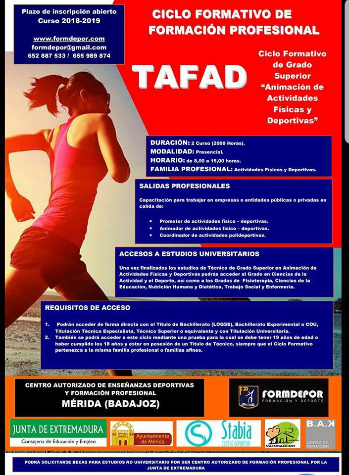 Centro Formdepor Centro Tafad Mérida Badajoz